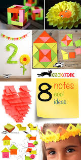 diy paper crafts eight sticky notes cool ideas