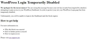 how to fix a wordpress login that s blocked