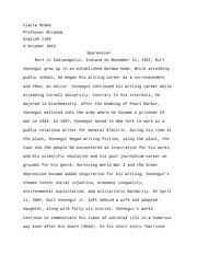 harrison bergeron essay the disaster of equality kurt vonneguts  6 pages harrison bergeron essay