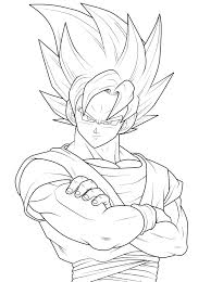 Small Picture Dragon Ball Z Coloring Pages Dragon Ball Z Goku Super Saiyan Four