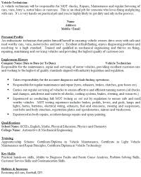 Vehicle Technician Cv Example Icover Org Uk