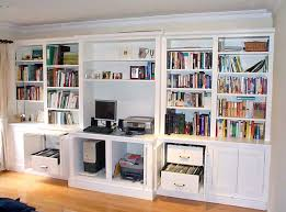 Image Diy Homeoffice Shelving Solutions Bespoke Fitted Home Office Furniture Shelving Solutions