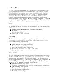 Chemistry Lab Report Format And Sample Lab Report Results Prune