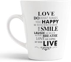 Ikraft Love Quotes Conical Coffeemug Inspirational Quotes Printed