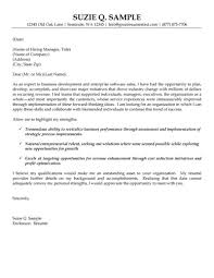 Business Development Executive Sample Cover Letter