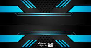 Abstract Metallic Blue Black Background Vector Premium