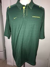 details about mens university of oregon ducks polo golf shirt nike fit dry 2xl l green mint