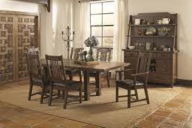 coaster padima 7 piece dining room set in rustic cognac