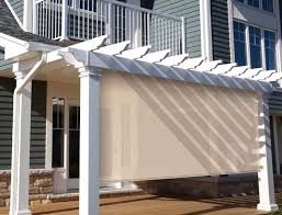 indoor solar shades are great for energy efficiency and privacy while outdoor solar shades can be