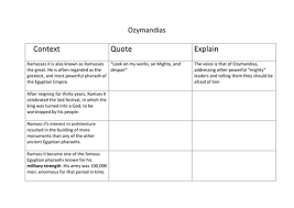 ozymandias differentiated lesson and worksheet by batee teaching  ozymandias differentiated lesson and worksheet by batee teaching resources tes