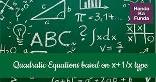 quadratic equations based on x 1 x