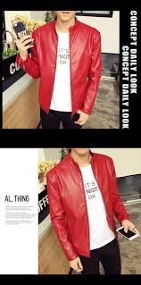 4 color mens leather suede male leather jacket famous brand red leather jacket mens china 26