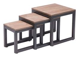 nesting furniture. Civic Centre Nesting Table (Distressed Natural) Furniture P