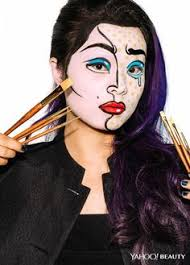 yahoo beauty editor inspired by roy lichtenstein s crying photo ben ritter makeup fatima thomas for mac hair nate rosenkranz using alterna