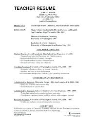 Example Of Teaching Resume Best Resume Teacher Experience Sample For Teachers Special Education