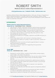 26 Top Medical Sales Resume Examples You Can Download