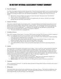 Summary Of Ia Format