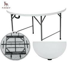 half round folding table commercial fold in half round folding plastic table for folding table half round folding table