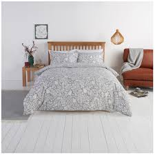 close image for sainsbury s home forest hideaway grey woodcut printed bed linen from sainsbury s