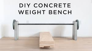 Diy Bench Diy Concrete Weight Bench Youtube