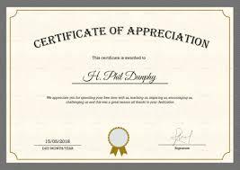 Certificate Of Appreciate Certificate Of Appreciate Appreciation From Councillor