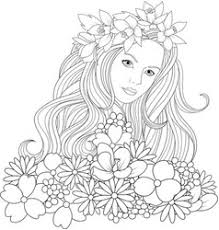 Makeup Coloring Page Vector Images 77