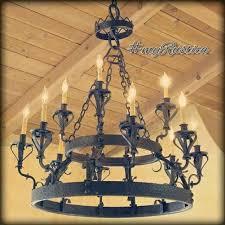 hacienda chandeliers wrought iron