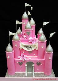 Pink Princess Castle Cake