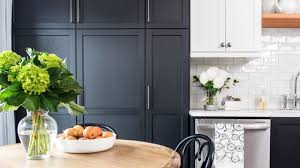 Small Kitchen Makeover Black White Two Tone Cabinets Youtube