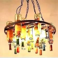 recycled wine bottle chandelier bottle chandelier diy recycled wine bottle chandelier