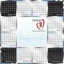 Chrome Year At A Glance Wall Calendar