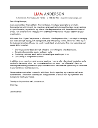 best s representative cover letter examples livecareer edit