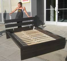 King Platform Bed Ikea Including Black Headboard Home Design Website  Collection Pictures Build Queen Frame Quick Woodworking