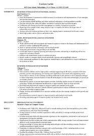Business Intelligence Engineer Resume Samples Velvet Jobs