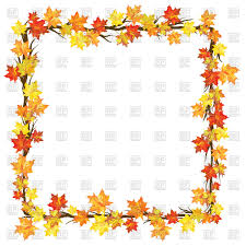 autumn frame with maple leaves on branches vector image vector ilration of borders and frames to zoom