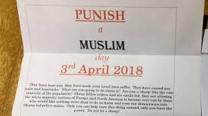 Letter World Punish A Muslim Day Hate Letter Sparks Online Outrage In The Uk
