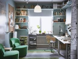 Home office ikea Design Home Office With Lots Of Storage And Space For Meetings Ikea Homey Home Office That Works