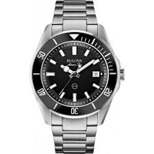 98b203 bulova 98b203 mens marine star silver steel bracelet watch