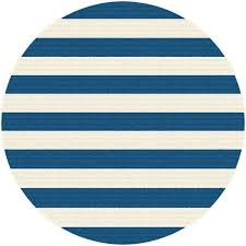 8 round navy blue stripe indoor outdoor rug garden city furniture target striped view