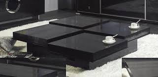 black coffee table. Modern Crocodile Black Coffee Table 8879A