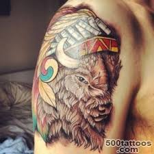 Navajo tattoo designs Navajo Wedding Basket Tattoo Of Buffaloison With Navajo Headdress Fresh From The 14 500tattooscom Buffalo Tattoo Designs Ideas Meanings Images