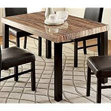 furniture of america bahia contemporary faux marble top dining table