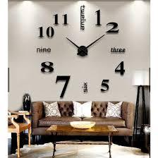 quartz diy modern clocks needle acrylic
