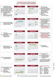 Gwinnett County School Calendar 2017-18