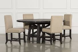 jaxon 5 piece round dining set wupholstered chairs 48 inch round table with 5 chairs