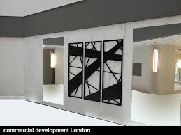 commercial development abstract lines laser cut wall art