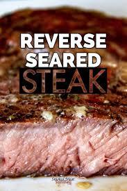 reverse sear steak on your smoker