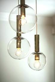 glass sphere chandelier chandeliers rs r clear globe blown espresso
