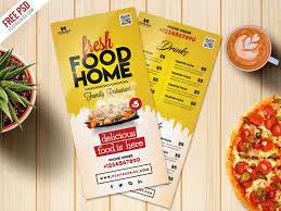 Food Menu Design Free Psd Food Menu Card Psd Template Freebie By Psd Freebies