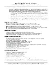 Public Health Resume Objective Examples Mph Resume Mwb Online Co